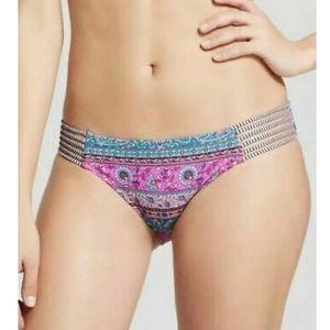 Shade & Shore hipster boho bikini bottom paisley M